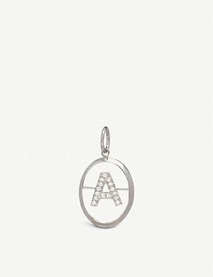 ANNOUSHKA 18ct white-gold and diamond A pendant