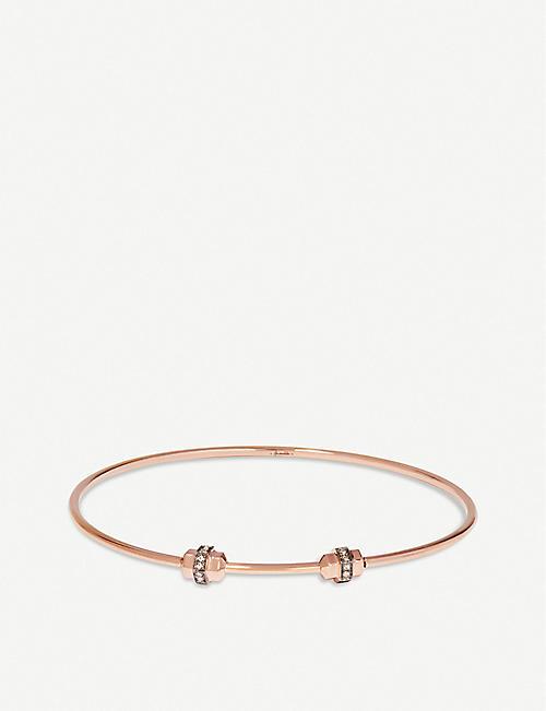 ad55961d7 ANNOUSHKA Mythology 18ct rose-gold and white sapphire bangle