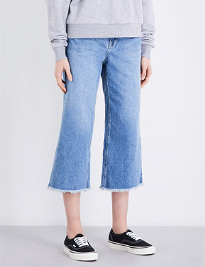 TOPSHOP Awkward straight cropped high-rise jeans