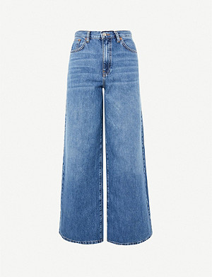 TOPSHOP Wide-leg high-rise jeans