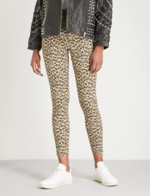 6712e163e1a4 TOPSHOP - Joni super-skinny high-rise leopard-print jeans | Selfridges.com