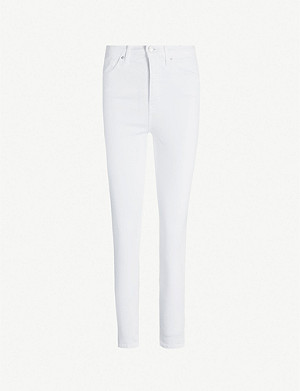 TOPSHOP Jamie cropped skinny high-rise jeans