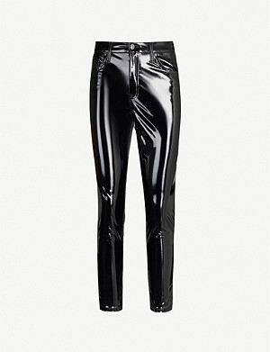 TOPSHOP Jamie skinny high-rise patent jeans