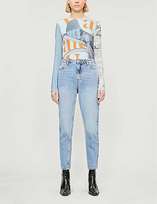 3174dfbcf978 TOPSHOP High-rise mom-fit denim jeans