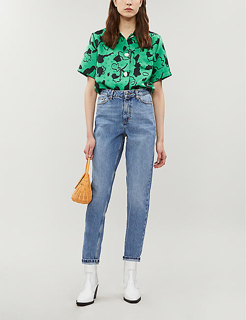 TOPSHOP High-rise mom-fit denim jeans