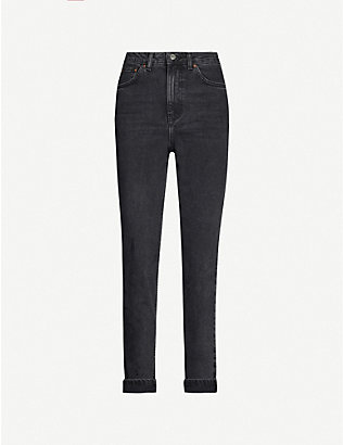 TOPSHOP: Tapered leg mom-fit high-rise jeans