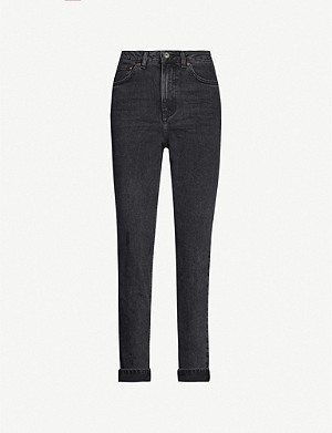 TOPSHOP Tapered leg mom-fit high-rise jeans