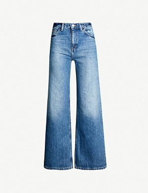TOPSHOP High-rise wide-leg jeans