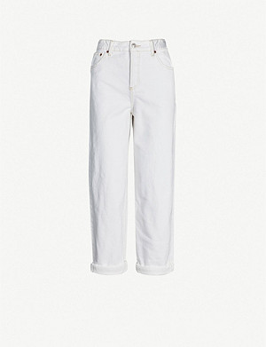 TOPSHOP Balloon high-rise rolled-hem jeans