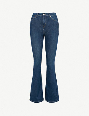 TOPSHOP Jamie flared high-rise jeans