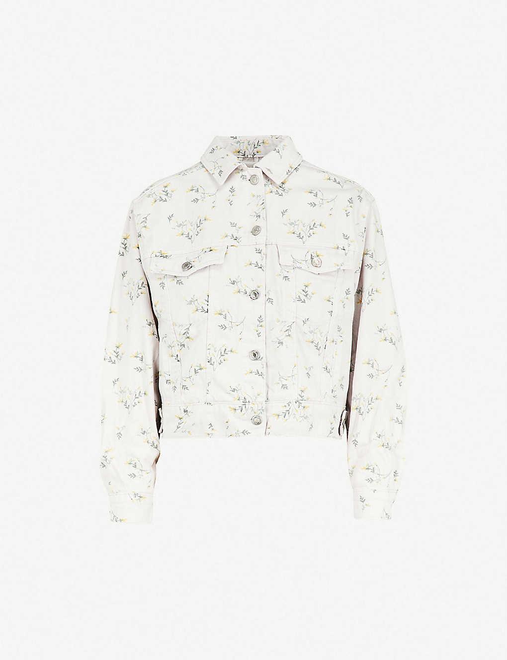 e4053a9430b TOPSHOP - Floral-print denim jacket | Selfridges.com