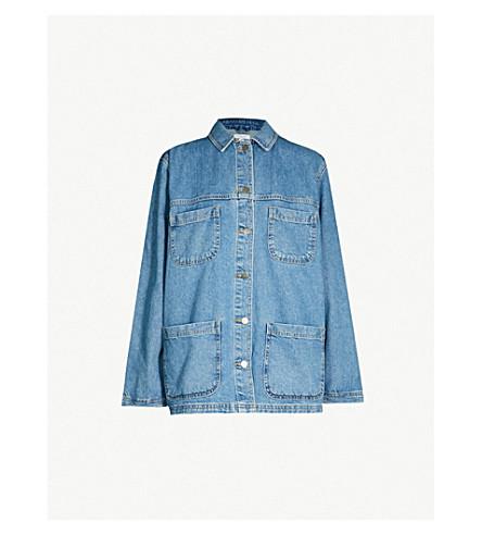 41635af98100e TOPSHOP Oversized denim jacket (Mid+stone