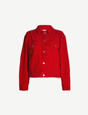 TOPSHOP Corduroy cotton boxy jacket