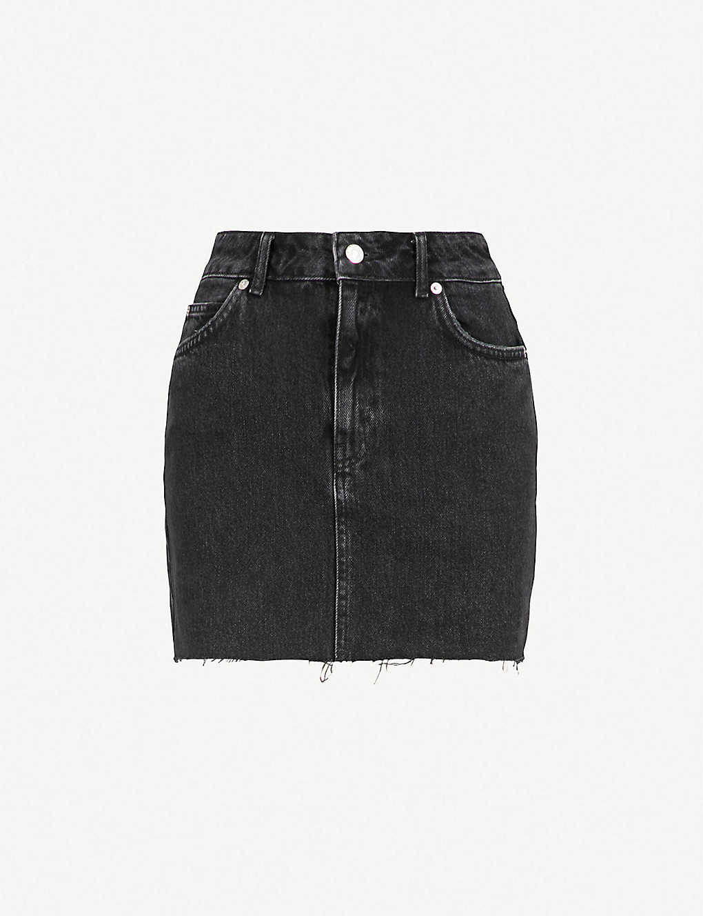 f80043671 TOPSHOP - Raw hem denim mini skirt | Selfridges.com