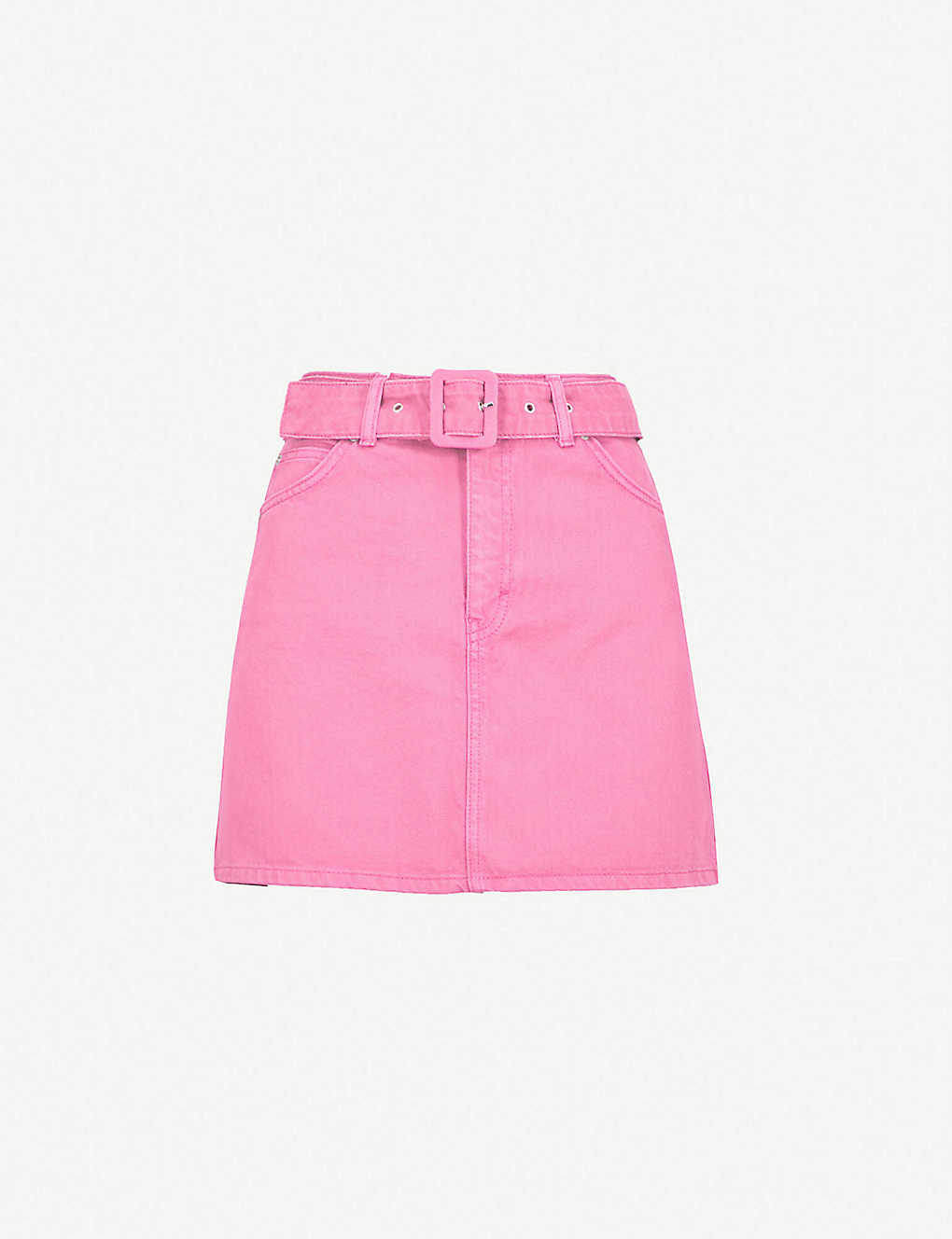 99c5ea6e1d TOPSHOP - Belted high waisted denim skirt | Selfridges.com
