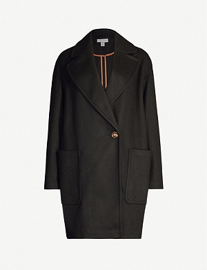 TOPSHOP Carly Crombie crepe coat