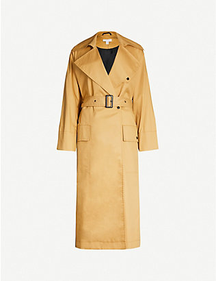 TOPSHOP: Editor belted cotton trench coat