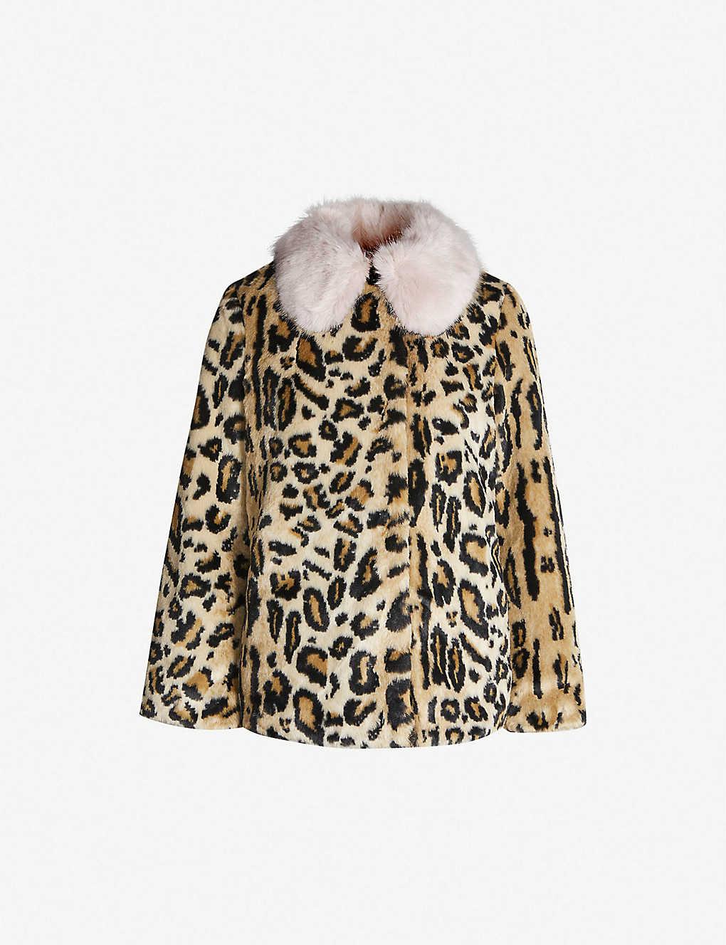 46fefd1dec5e TOPSHOP - Zoey leopard-print faux-fur jacket | Selfridges.com