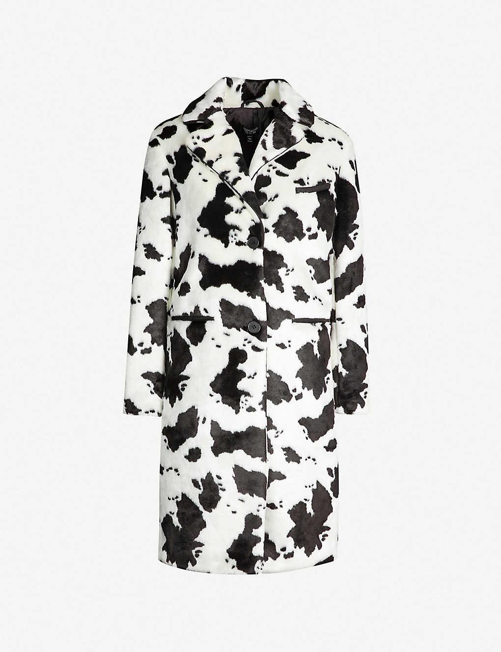 b9eb061052 TOPSHOP - Molly Moo Crombie faux-fur coat   Selfridges.com
