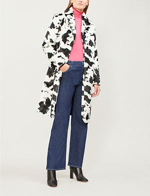 Topshop Lily Faux Fur Biker Jacket Selfridges Com
