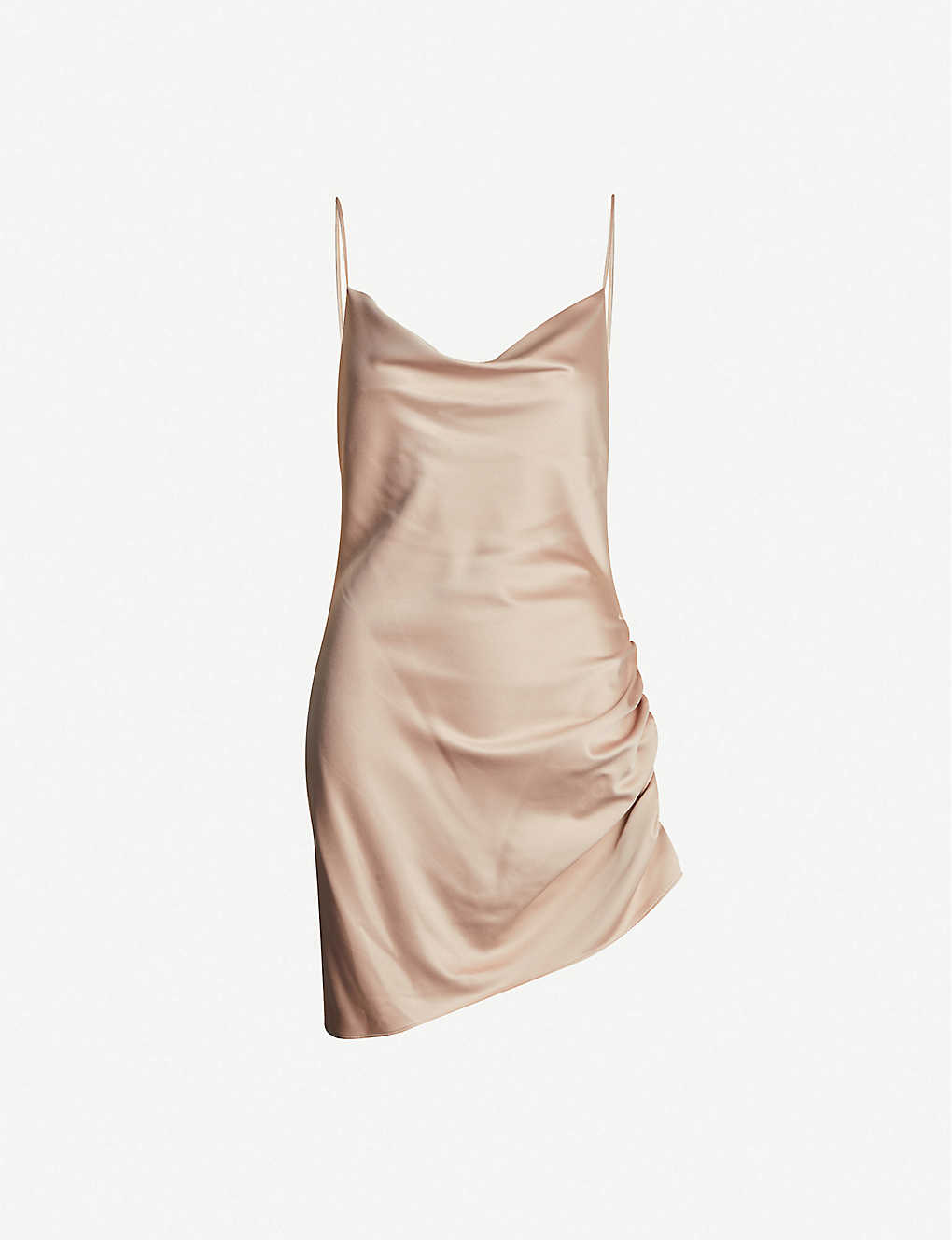 TOPSHOP: Ruched satin mini dress