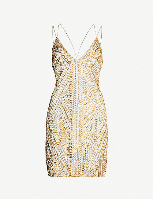 8a09aed0c72 TOPSHOP Goldie embellished slip dress
