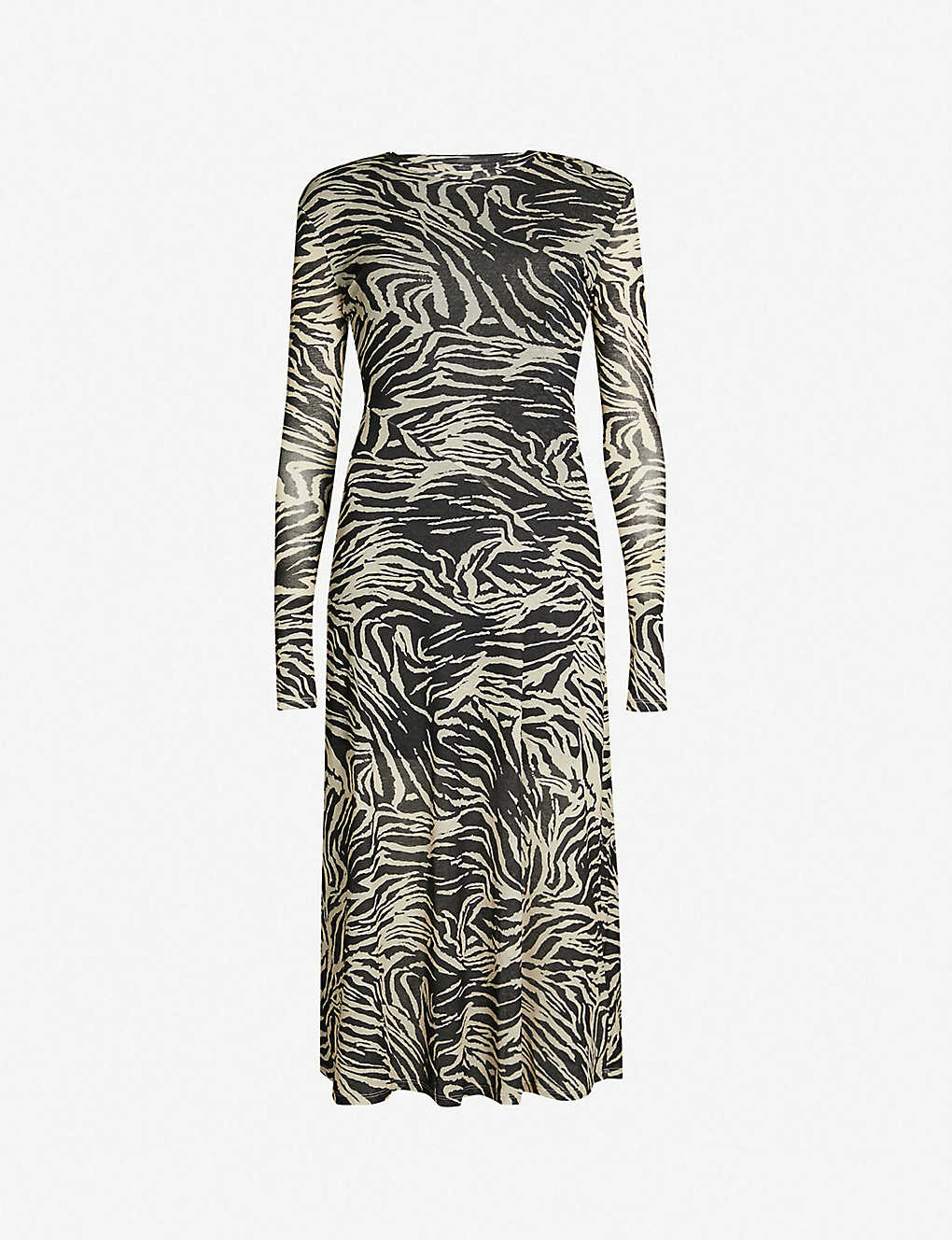 c7ca23e51965 TOPSHOP - Zebra-print mesh midi dress   Selfridges.com