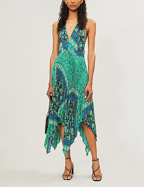 37c9085000cb04 TOPSHOP Paisley-print V-neck sleeveless crepe midi dress