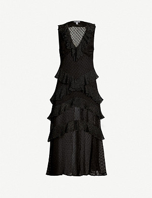 TOPSHOP Dobby fil coupe dress