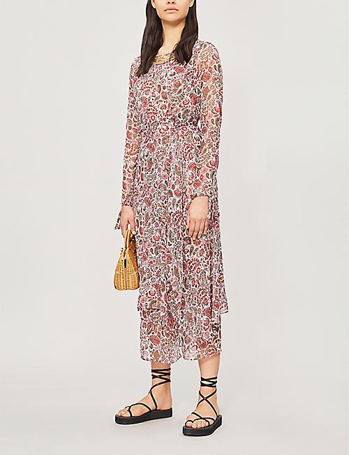 087746f63e6 TOPSHOP Embellished paisley woven dress