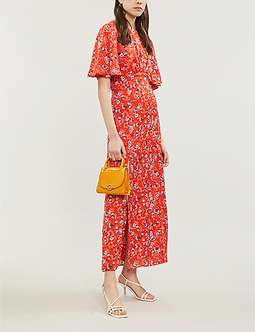 a482513c4bef10 TOPSHOP Austin floral-print high-neck satin maxi dress