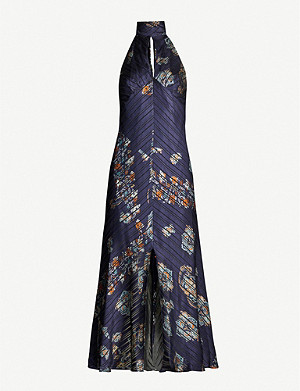 TOPSHOP Idol paisley satin dress