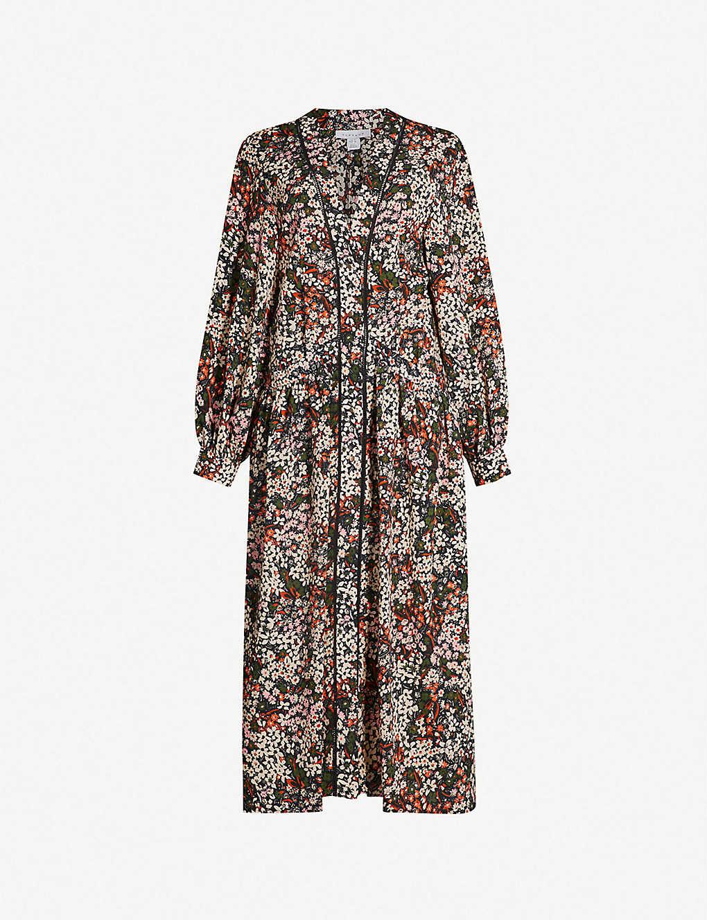 05d89d2fdd9d TOPSHOP - Ditsy floral-print crepe smock dress | Selfridges.com