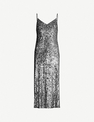 TOPSHOP Sequin-embellished midi dress