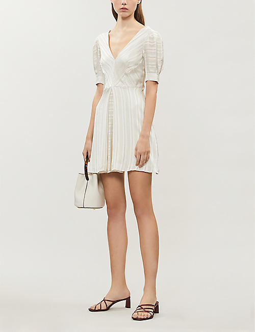 TOPSHOP Idol striped satin dress