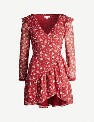 TOPSHOP Dobby floral-print crepe mini dress