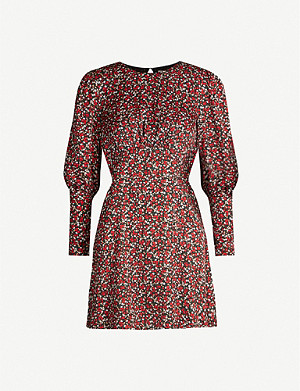 TOPSHOP Austin floral-print crepe mini dress