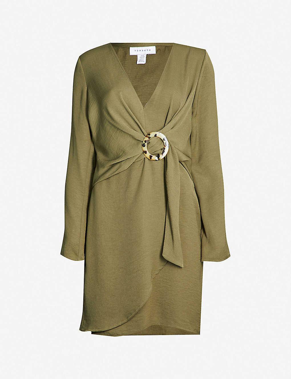 d7ac67d0632d2 TOPSHOP - Horn Ring-buckle jersey mini dress | Selfridges.com