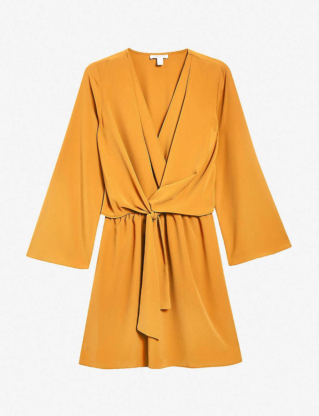 9f56e5d0e3 TOPSHOP - Tiffany knot-front crepe mini dress