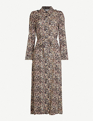 TOPSHOP Graphic-print crepe midi dress