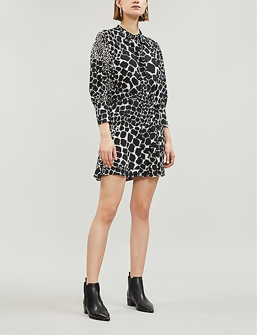 9ebe67edf5 TOPSHOP Giraffe-print crepe dress