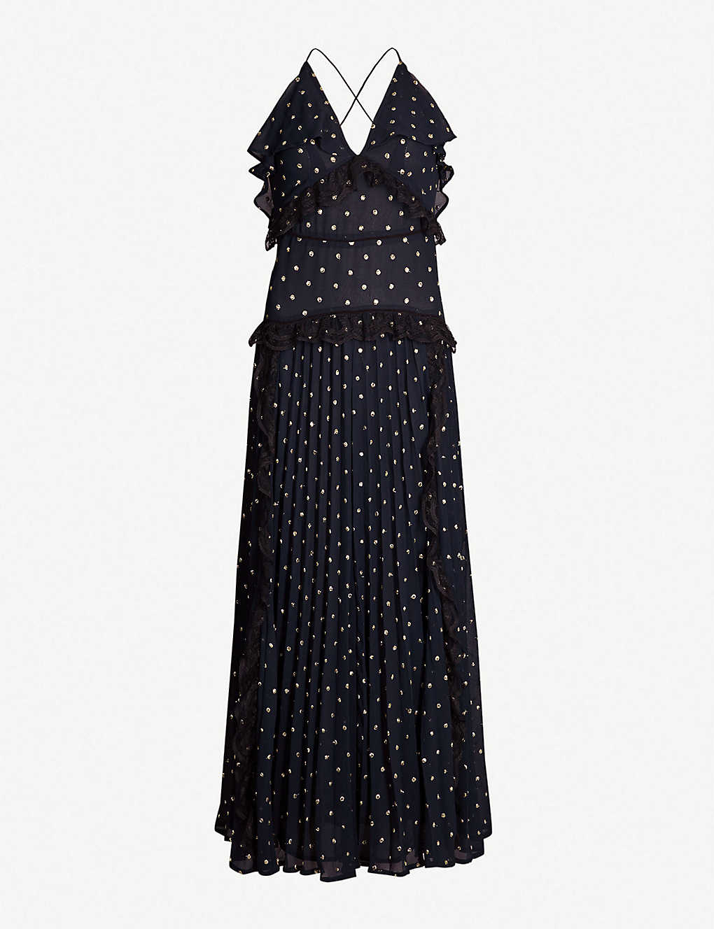 0c45d349 TOPSHOP - Boutique polka-dot print pleated chiffon dress | Selfridges.com