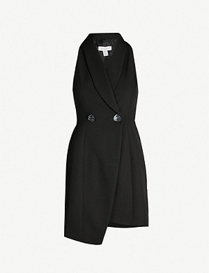 TOPSHOP Tuxdeo double-breasted crepe dress
