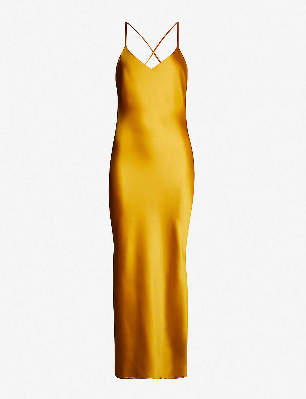 a17f6ff8d513 TOPSHOP - Crossover back satin slip dress | Selfridges.com