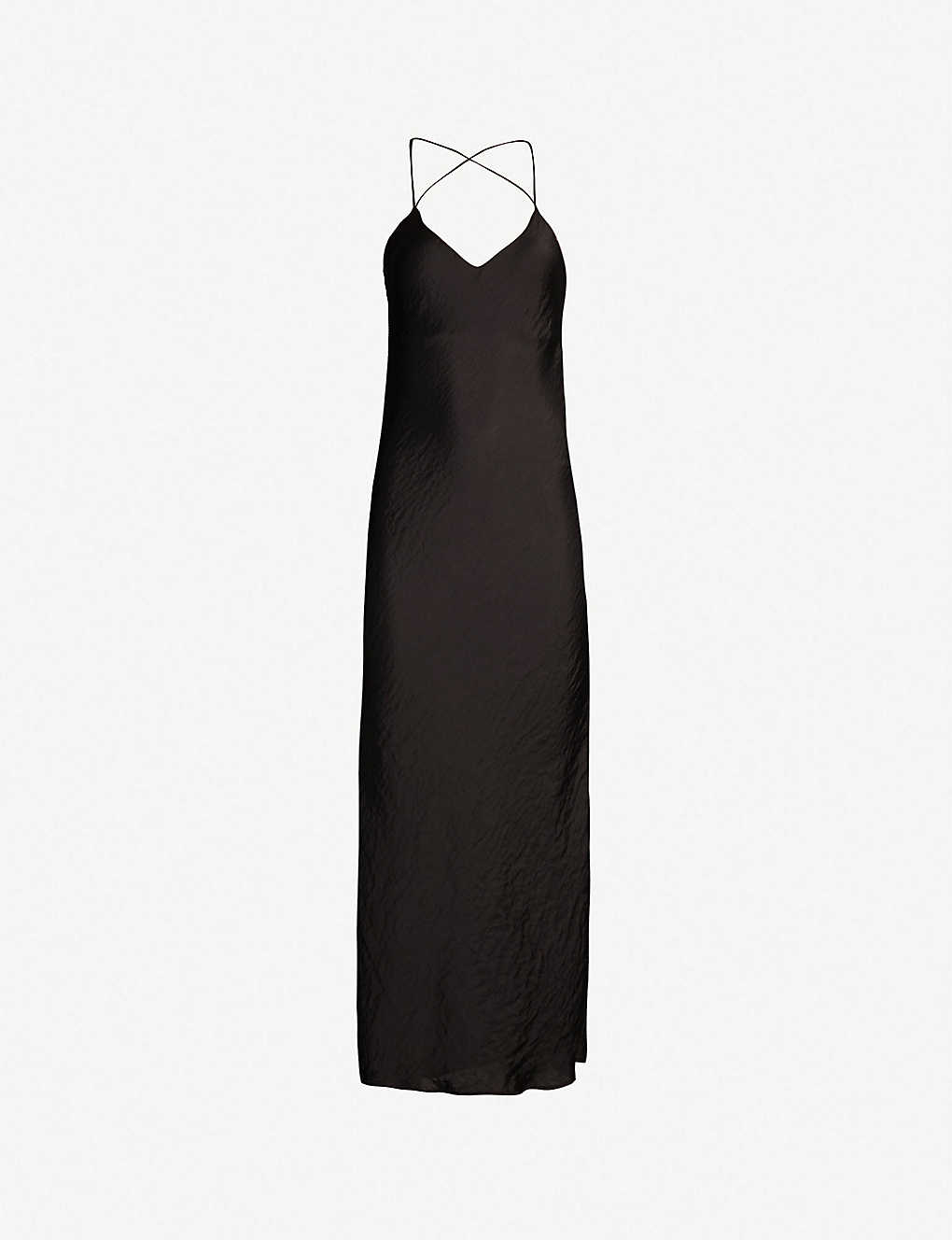 fa0450f23f29 TOPSHOP - Crossover back satin slip dress | Selfridges.com