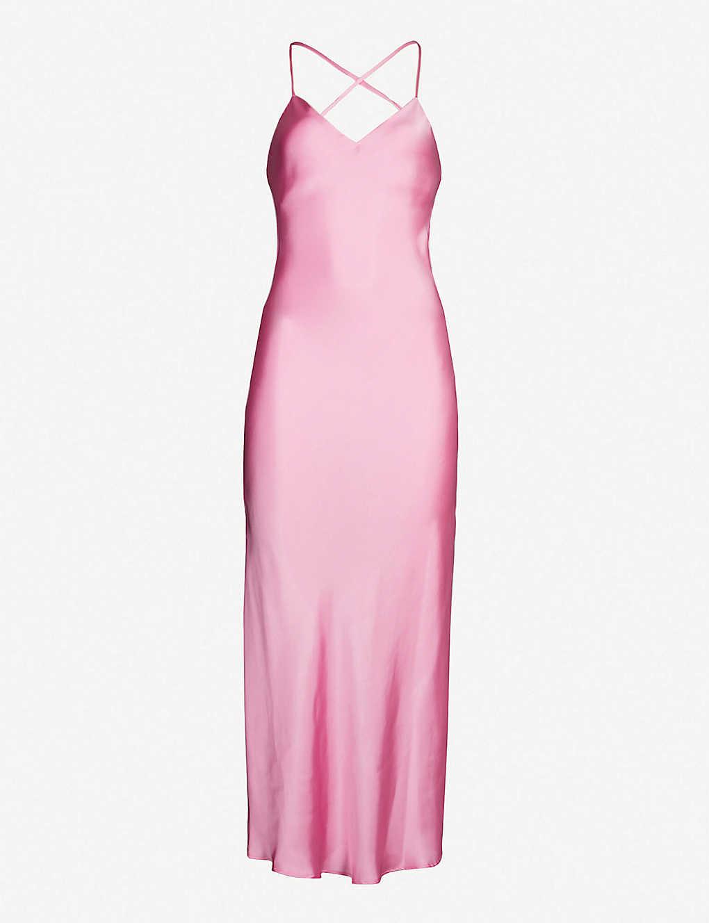 2e61526590b1b TOPSHOP - Satin midi slip dress | Selfridges.com