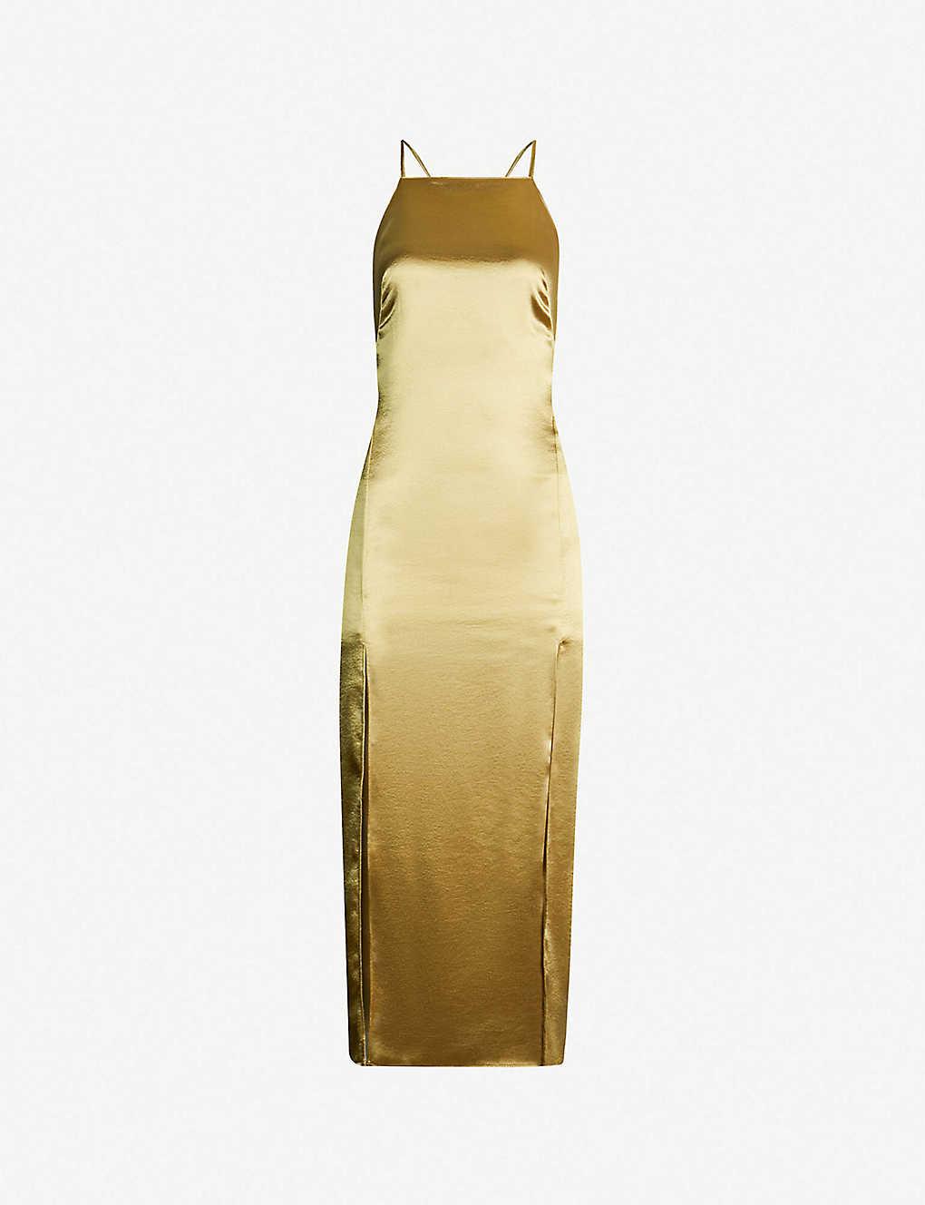 608995331eae TOPSHOP - Strappy satin slip dress | Selfridges.com