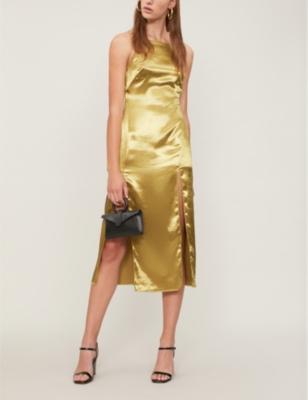 ba71efc590b TOPSHOP - Strappy satin slip dress | Selfridges.com