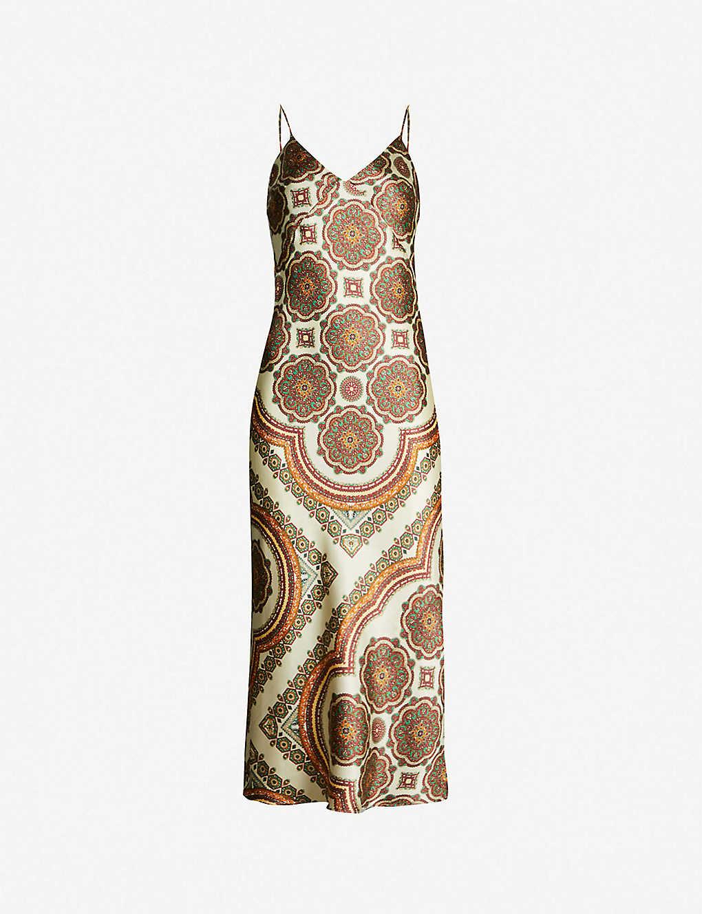 4a092deb0f6 TOPSHOP - Paisley strappy satin slip dress | Selfridges.com