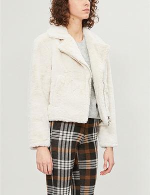 Topshop Alicia Boucle Coat Selfridges Com